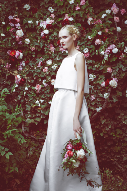 The Astrid Cropped Top and The Astrid Maxi Skirt © Stone Fox Bride