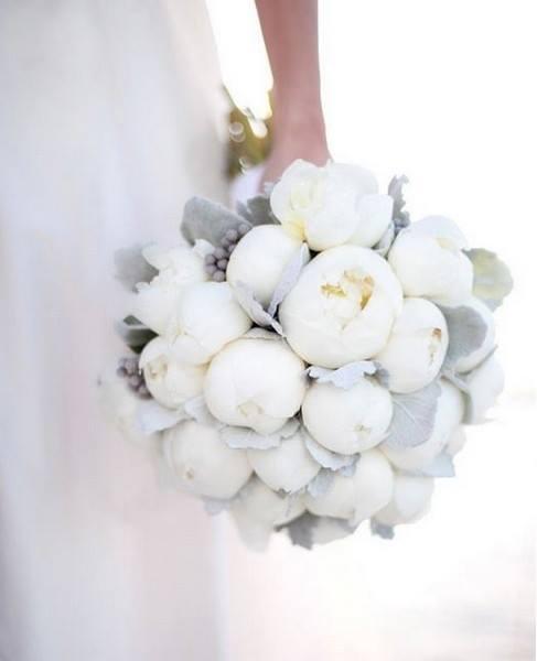 Bouquet d'hiver sous la neige