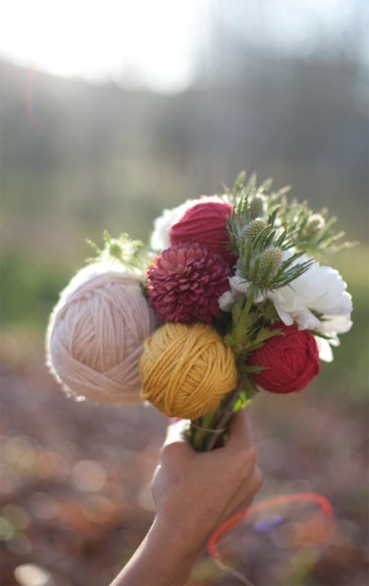 Bouquet de laine d'hiver