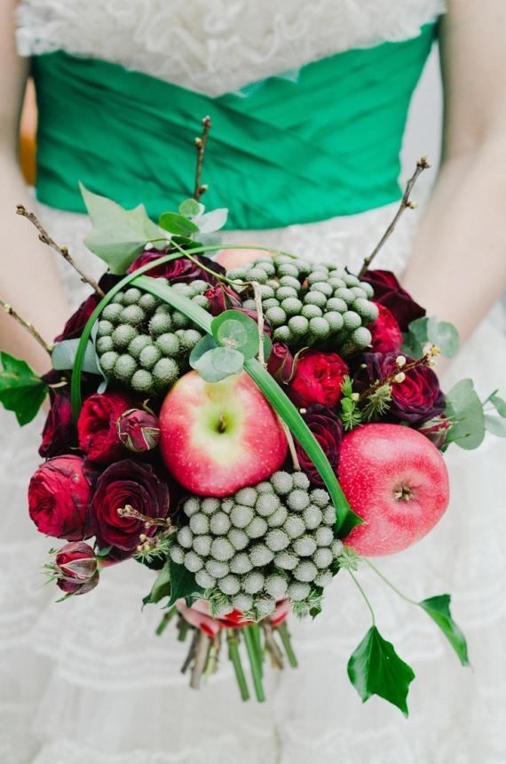 Bouquet de mariage hiver