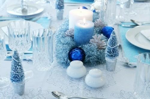 mariage hiver neige noël bleu et blanc