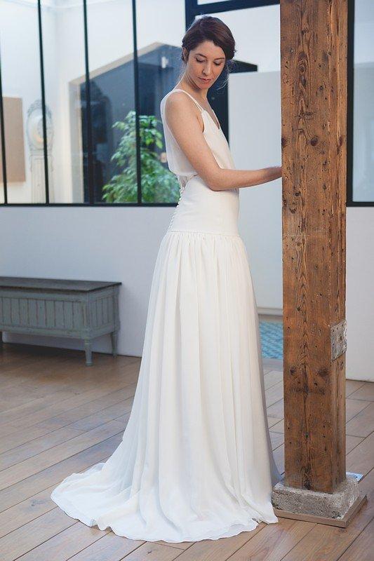 Robe-Gatsby-Bretelles robe de mariée Mathilde Marie Blog Marioninette