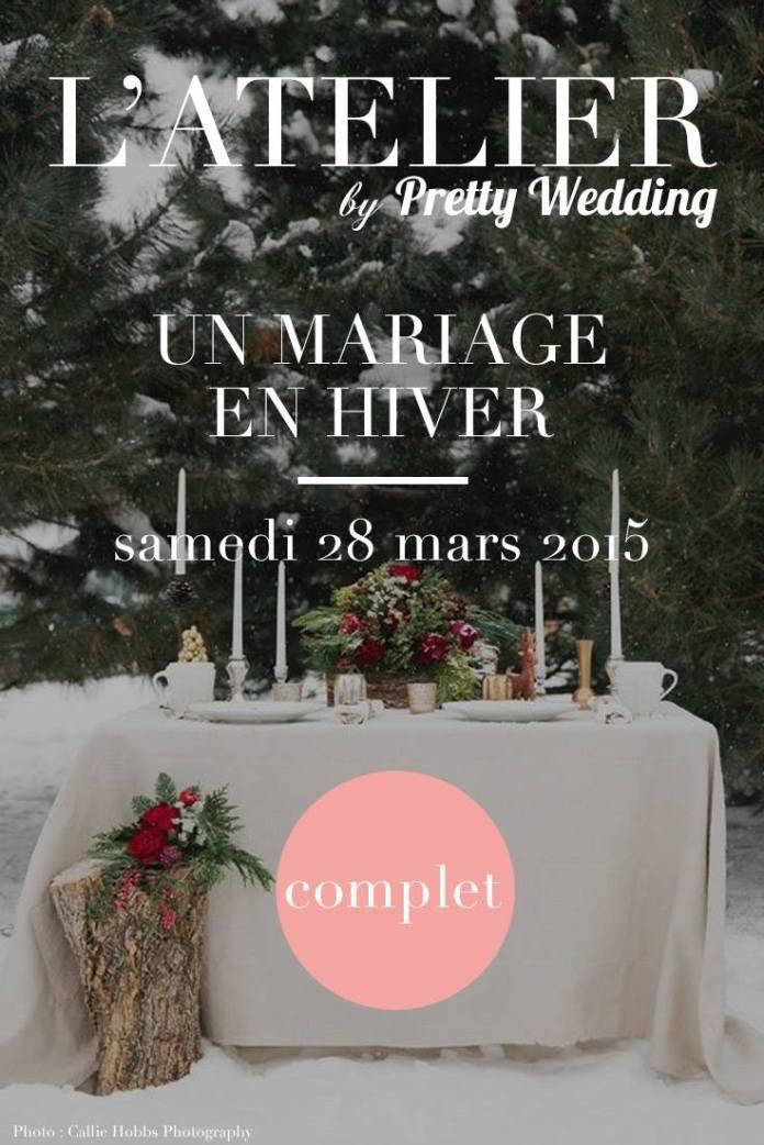 atelier décoration mariage en hiver par pretty wedding chez le salon de thé sugarplum cake shop marioninette.com