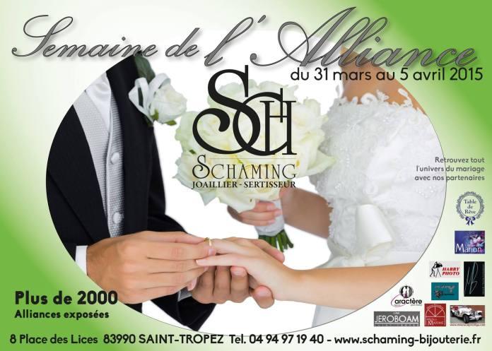 La semaine de l'alliance Schaming Saint Tropez Blog Mariage marioninette.com