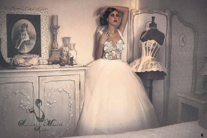 Robe de mariée Sandra Maurel Côte d'Azur blog mariage marioninette.com