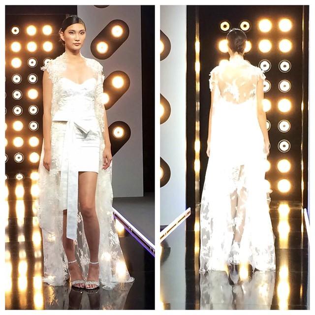 Projet Fashion sur D8 défi robe de mariée avec la créatrice Delphine Manivet blog mariage marioninette.com