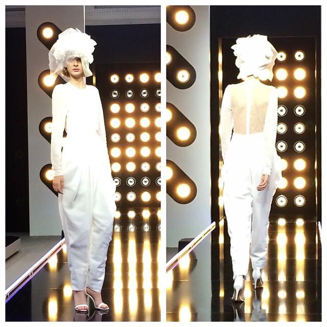 Projet Fashion sur D8 défi robe de mariée avec la créatrice Delphine Manivet blog mariage marioninette.com2