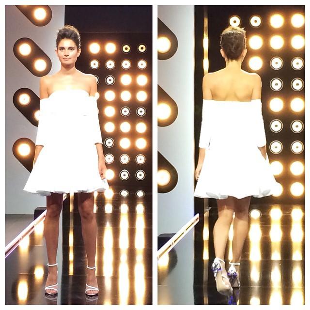 Projet Fashion sur D8 défi robe de mariée avec la créatrice Delphine Manivet blog mariage marioninette.com3