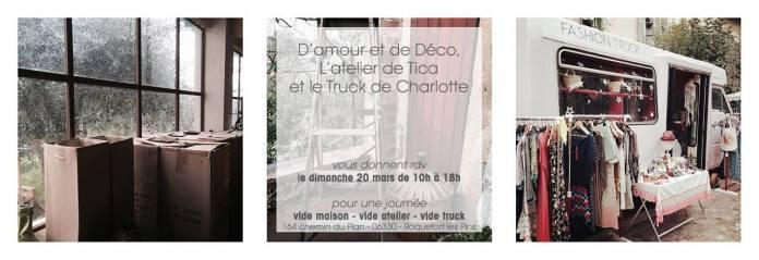 D'amour et de décor L'atelier de Tica le truck de charlotte blog mariage marionnette.com